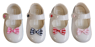 Shoes baby pram girl BAYPODS gingham bow Early Days