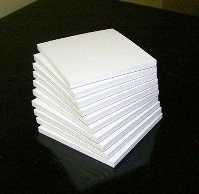"Blank White Note Pads, 3"" x 3"", 10 pads in a pack"