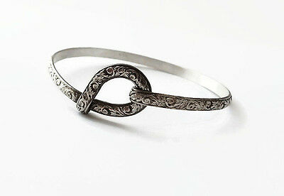 Thistle Hook Bracelet - Outlander - Celtic Sporran Key - Solid Sterling Silver