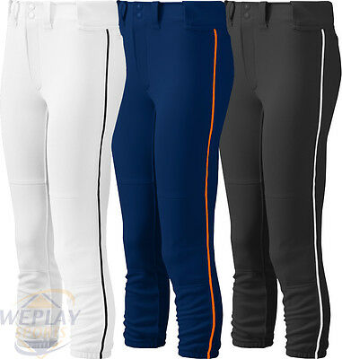 Mizuno Select Low Rise Womens Fastpitch Softball Pants W/ Piping Braid 350314