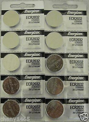 10 Genuine Energizer ECR2032 Fresh Date 2032 Lithium 3v Batteries CR2032