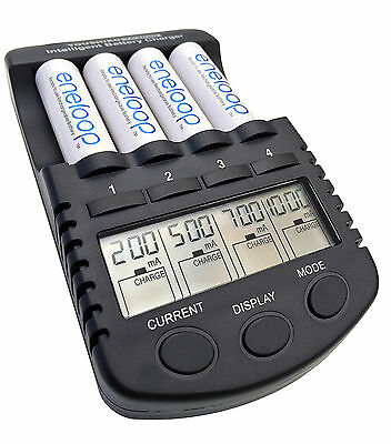 4 x AA Eneloop rechargeable batteries +  Intelligent Battery Charger Deal