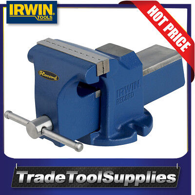Irwin Record 100mm Jaw Heavy Duty Cast Iron Workshop Vice 10507771