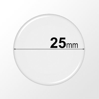 25mm Round Clear Epoxy Stickers - Circle Domes Dots Seals - FREE SHIPPING