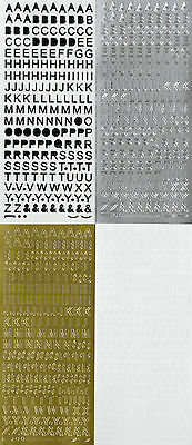 8mm Uppercase ALPHABET Type 1 Symbol Letters Capital Alphabets PEEL OFF STICKERS