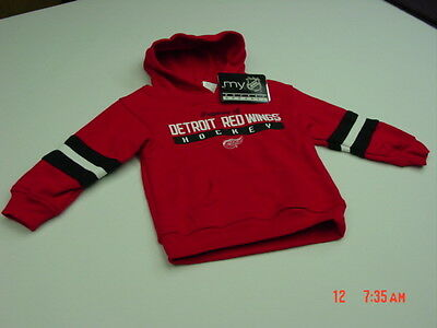 NWT Infant Toddlers Red Wing Pullover Hooded Sweatshirt Detroit Michigan Hockey