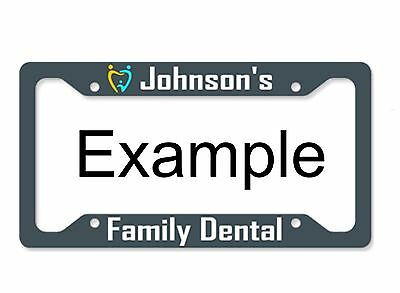 custom printed aluminum metal license plate frame with text color