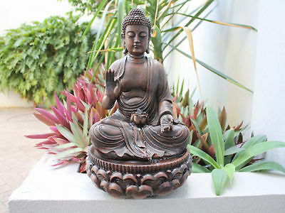 water fountain buddha 26 x 26 x 39cm calming reduced to clear