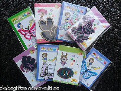 Bulk Lot 6 Mixed Design And Fabric Iron On Transfers For Crafts Or Kids Clothes