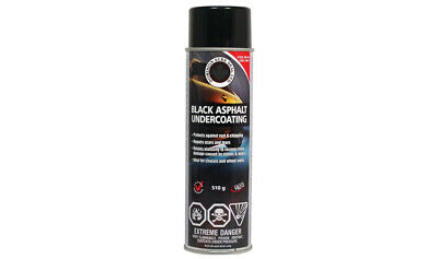 Rubberrized Black Asphalt Undercoating Spray Can 510g Dominion Sure Seal LTD.