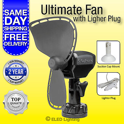 12 v Boat Fan Caframo Fan Ultimate 747  Camping Caravan Fan Cig Lighter plug