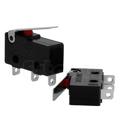 C+NO+NC Micro Limit Sensor Switch Roller Arm Lever Subminiature 3A 250V AC 2pcs