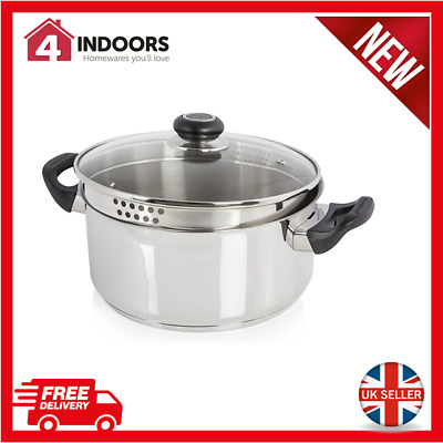 Morphy Richards 970007 Equip 24cm 5L Casserole Pot  Stainless Steel - Brand New