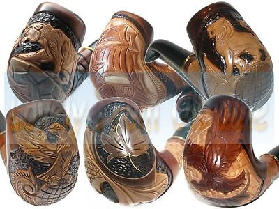 Hand Carved Handmade Wooden Smoking Pipe Pipes For Choice | 9 mm filter + Gift