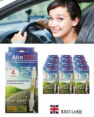 ALCOTEST PERSONAL ALCOHOL BREATH TESTER Detector Police Driver Breathalyser Test