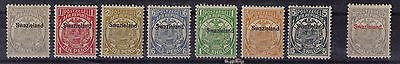 Swaziland 1889/1902 Transvaal overprinted 8 values to 5s mint