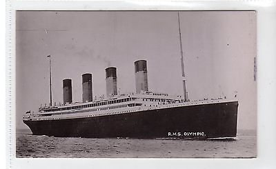 RMS OLYMPIC: White Star Line shipping postcard (C15984)