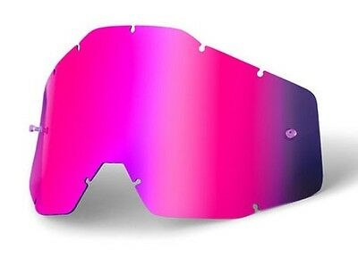 Goggle Shop MX Motocross lens for 100% - Mirror Pink