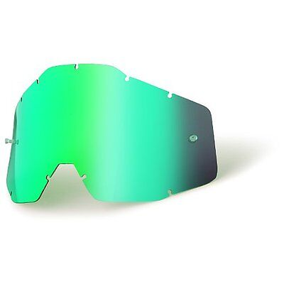 Goggle Shop MX Motocross lens for 100% - Mirror Green