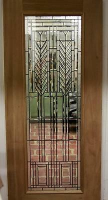 Beautiful Cut Glass  Mahogany Entry Door Blow Out Sale!!!!!