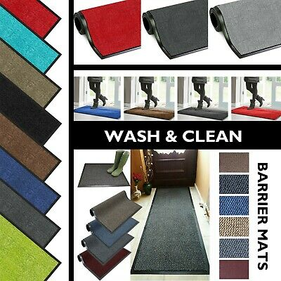 Barrier Mat Heavy Duty Hard Wearing Rugs Entrance Door Non Slip Hall Kitchen New