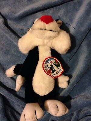 Looney Tunes Sylvester Plush  1993  Vintage  24K Collection   Nwtt