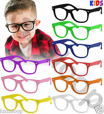 New Square  Children Kids Glasses No Lens Frames Costume Fancy Dress Party