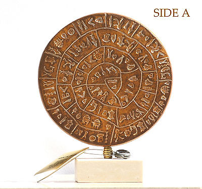 """PHAISTOS DISK Museum Replica Minoan Palace """"1700B.C. the first movable type"""""""