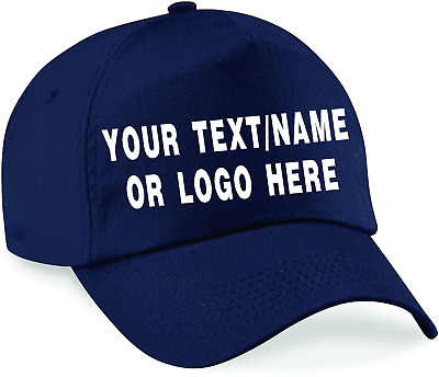 Personalised baseball caps Customised Adults unisex Printed Caps Hats Text/Logo