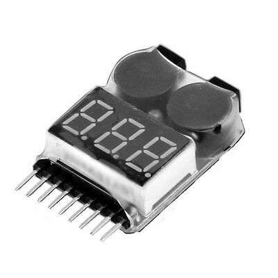 1-8S Lipo LiMn Battery Tester Low Voltage Buzzer Alarm SY