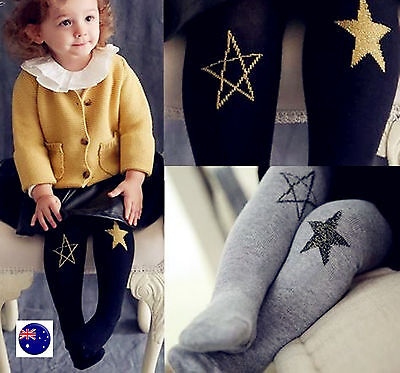 NEW Girl Baby Kids Chic STAR Warm Bottoms Pants Tights Leggings Stocking 0-7yea