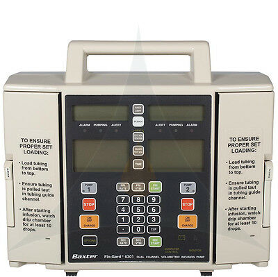 Baxter Flo-Gard 6301 Infusion IV Pump Free Shipping 90 Day Warranty