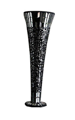 Large Vase dark Mosaic 40cm tall x 15cm diameter reduced to clear