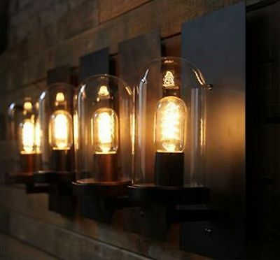 Edison Industrial Retro Vintage Metal Table Lamp Kitchen Bar Wall Lamp