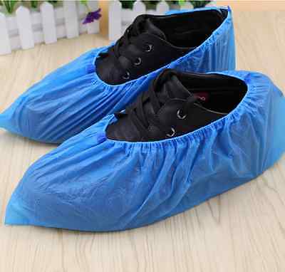 100 Pcs- Disposable Shoe Covers Antiskid Dust-free Big 1.5g/Pc [HIGH QUALITY]