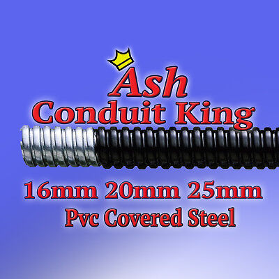 PVC Covered Steel Flexible Conduit Cable Tidy 1M Other Lengths Available