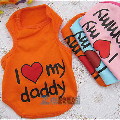 Small Puppy Pet Dogs Cat Apparel Vest Coat Clothes T-shirt Costume S-XXL Lovely
