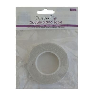 DOVECRAFT DOUBLE SIDED ADHESIVE TAPE -12 METRES x 12mm