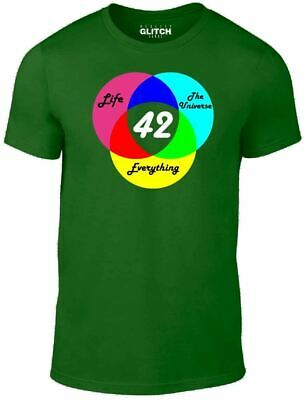 Mens Answer is 42 T-Shirt - Inspired by Hitchhikers Guide to the Galaxy Sci Fi