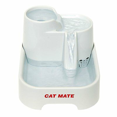 Cat Mate Pet Fountain Easy Clean Multi Height Quiet Fresh Drinking Water Health