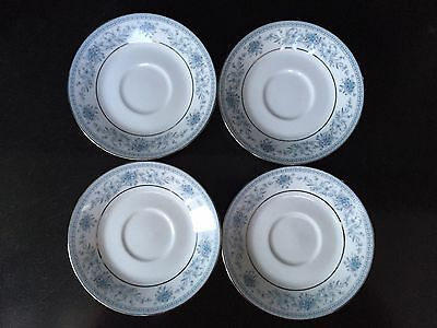 "NORITAKE Contemporary Fine China Blue Hill 2482 FOUR 6"" Saucer x4"