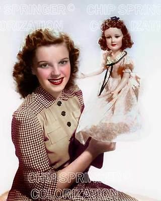 Judy Garland Posing With Doll Beautiful Color Photo By Chip Springer