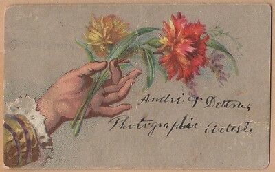 Handwritten Victorian Trade Card-Andre' & Dettra-Photographers-Pottstown, PA