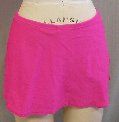 HOT PINK THICK LYCRA-DANCE COSTUME -SKIRT-attached short-CHILD SIZE XS-SHORT