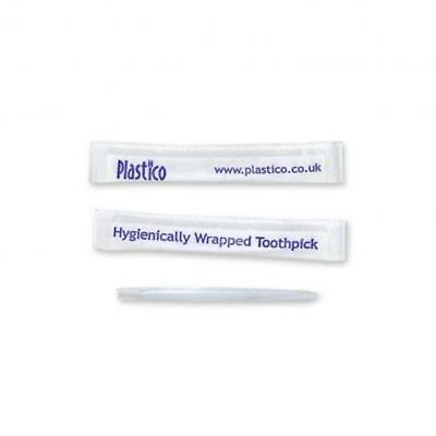 Individually Wrapped Plastico Plastic Quill Toothpicks available in 5 Pack Sizes