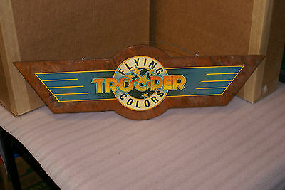 Trooper Flying Colors Promo Wooden Sign RARE