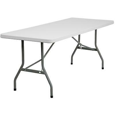 Rectangular Heavy Duty Folding Table Schools Cafeterias Conference Room Parties