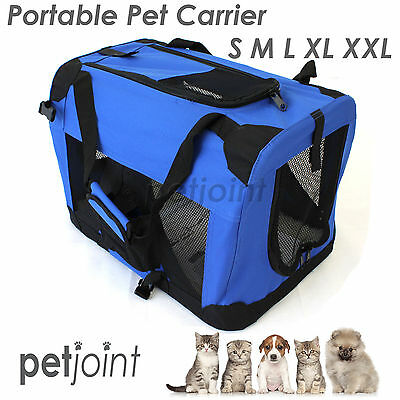 S M L XL XXL Pet Soft Crate Portable Puppy Dog Cat Carrier Travel Cage Kennel #2