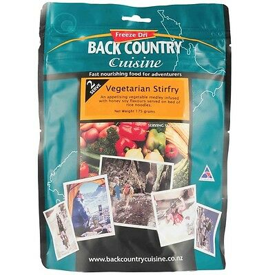 Back Country Cuisine Freeze Dried Food Vegetarian Stirfry 2 Serve