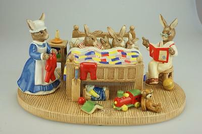Royal Doulton Bunnykins Bedtime Story Tableau DB499 Limited Edition Cert of Auth